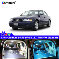 17pcs White Canbus led Car interior lights Package Kit For Audi A4 S4 B5 1999 2000 2001 LED interior light Kit