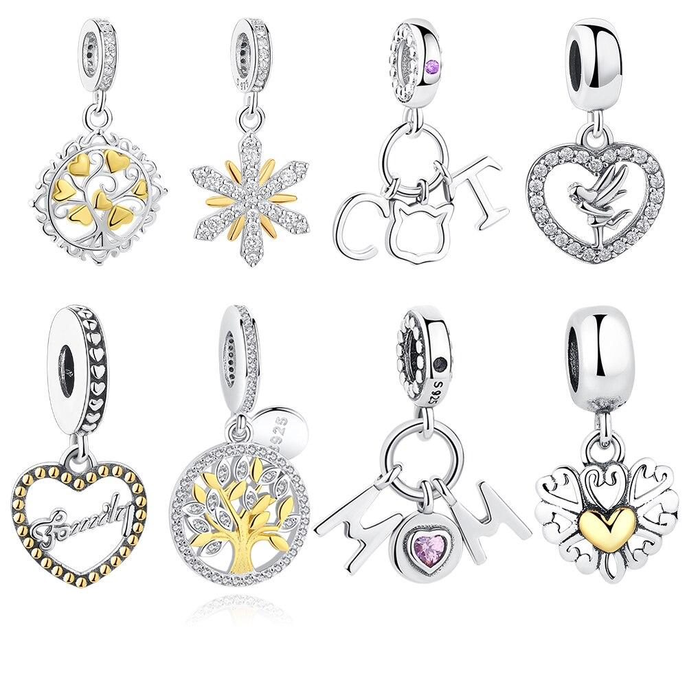 Zilveren bedels Fit Originele Pandora bedelarmbanden ketting 925 - Mode-sieraden
