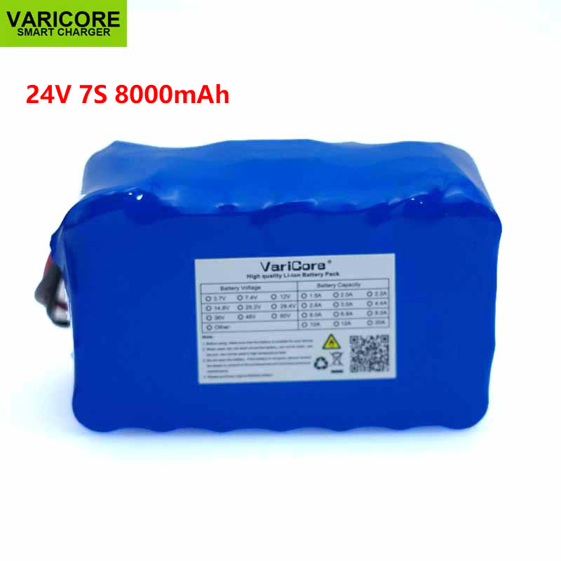 24V 8Ah 7S4P 18650 Battery li ion battery pack 29 4v 8000mAh electric bicycle moped electric