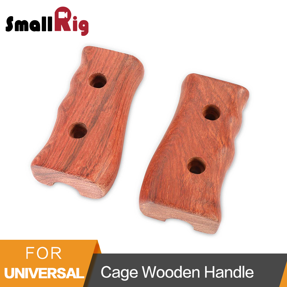 SmallRig Dslr Wooden handle 2 Pcs Pack Left and Right Camera Stabilizer Handle for DSLR Cage