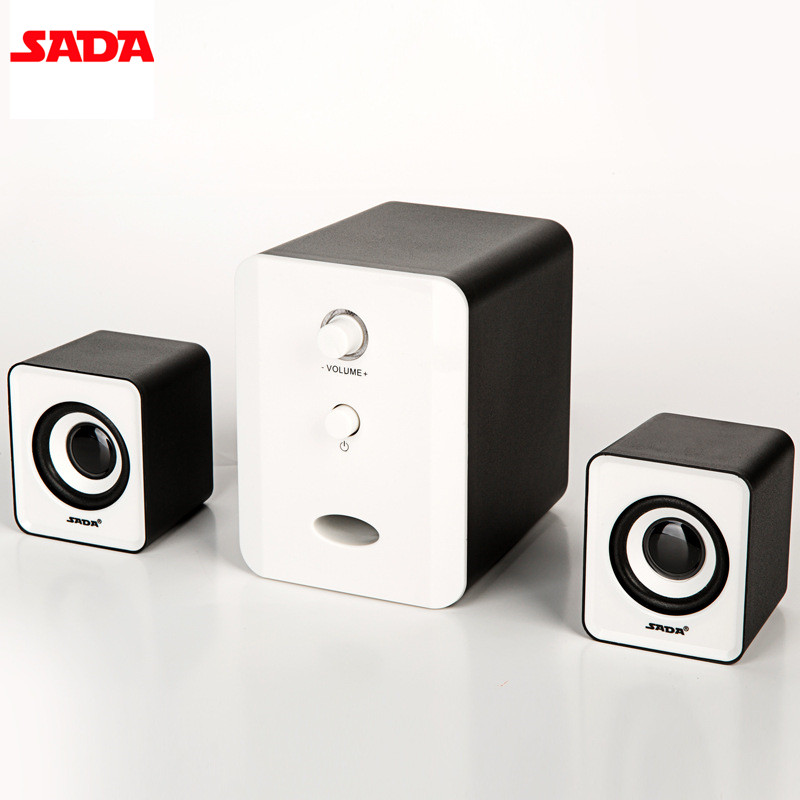 SADA D-201 Wired Combination Speaker Suitable for Laptop Desktop Computer Mobile Phone Notebook USB2.1 Bass Speakers