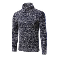 Pullover Sweater For Men's New Winter Fashion Jumper Sweater Men's Casual High Necked Sweater Coat XM07