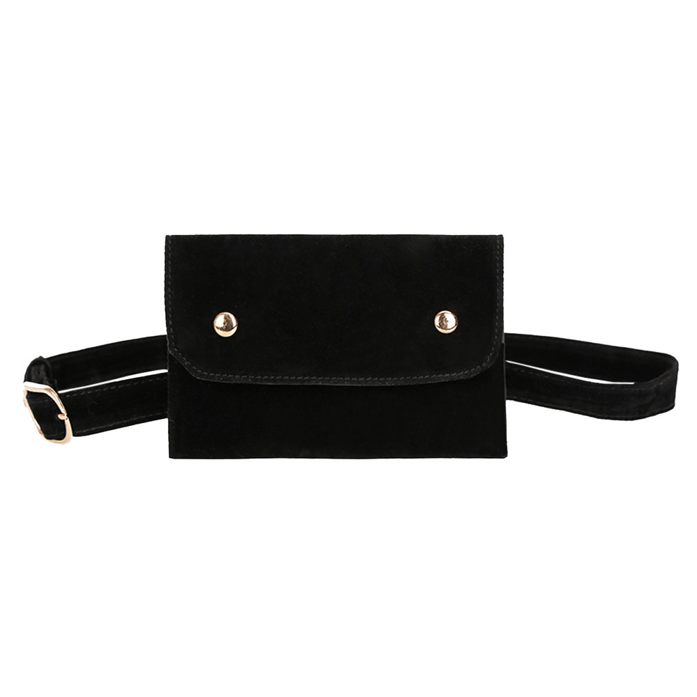 Messenger-Bag Fanny-Pack Vintage Belt-Bags Chest Fashion Women Mujer Flock Square H10
