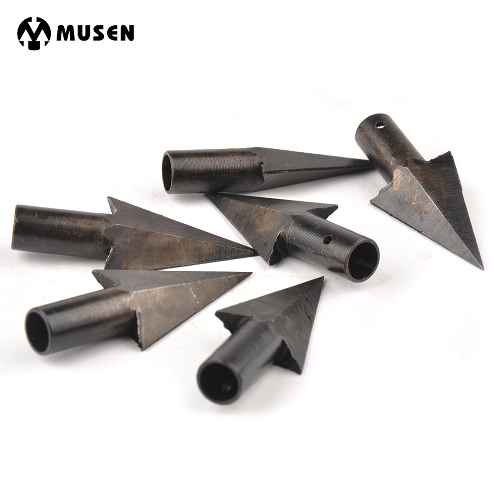 Hotest 6/12/24pc Archery Arrowheads Arrow Heads Tips Medieval Metal Hunting For DIY Wooden Arrow Longbow Free Shipping