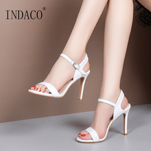 Sandals Women Summer Shoes Footwear 2019 New Patent Leather White Party 10cm