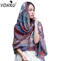Hot Echarpe New Folk-Custom Cashew Print Scarves Womens Scarfs Fashionable Autumn Warm Soft Viscose Scarf Jersey Hijab S-WJ30124