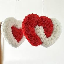 Продукт розы искусственный цветок стены свадебный цветок розы для декорирования кулон в форме сердца