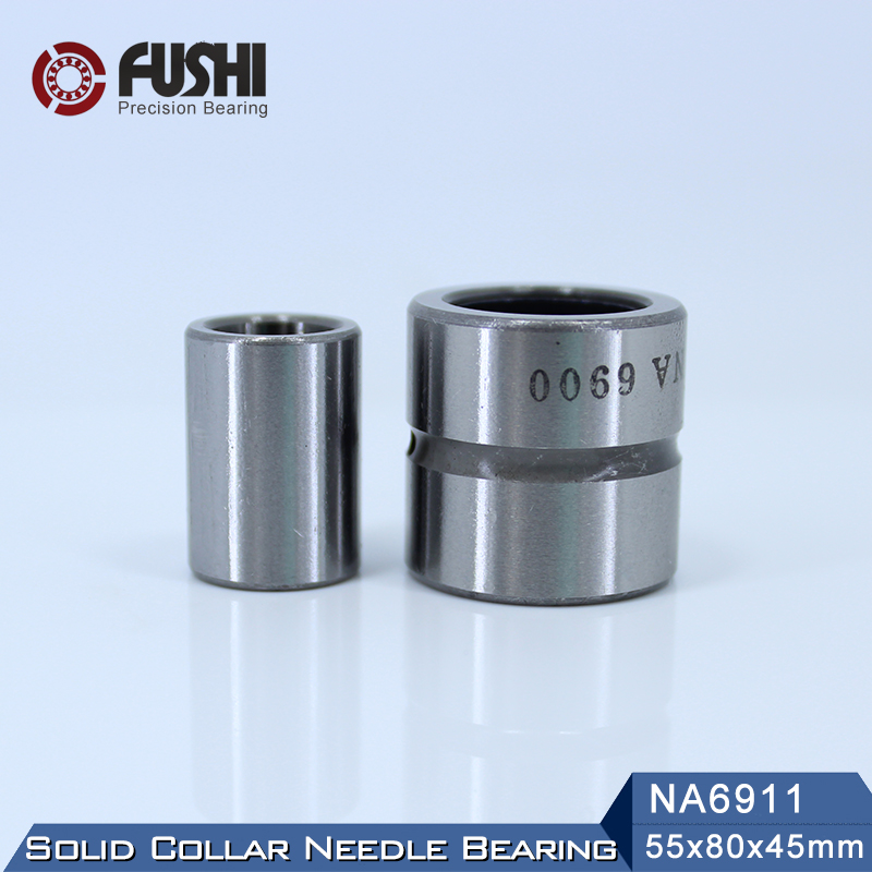 NA6911 Bearing 55*80*45 mm ( 1 PC ) Solid Collar Needle Roller Bearings With Inner Ring 6534911 6254911/A Bearing hk0306 needle roller bearing 3mmx6 5mmx6mm 3x6 5x6 mm hk0306tn for 3mm shaft