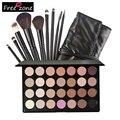 Maquillaje Set 28 Colores de Sombra de Ojos Paleta Neutral Pigmentado Shimmer Mate Sombra de Ojos Conjunto Con 9 unids Pinceles de Maquillaje Cosmético FE #8
