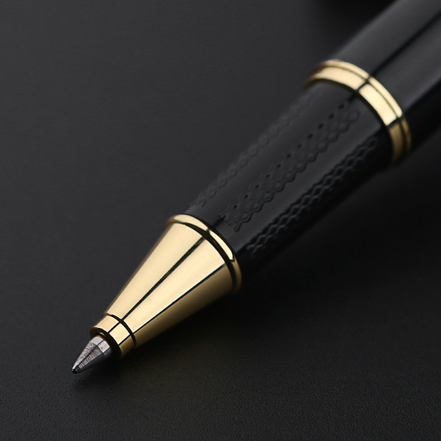 1501 Elegant Upscale Golden Roller Ball Pen Metal ballpoint pen office signature pen 1