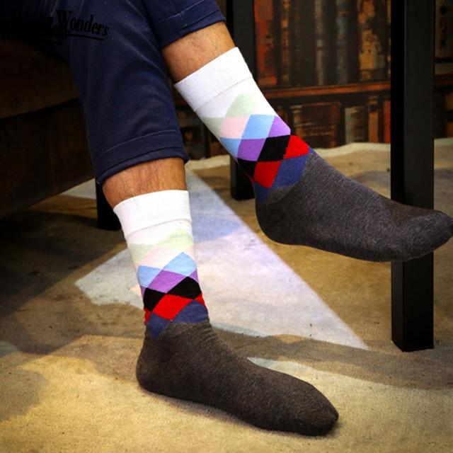 01d3905419c5 Winter Colorful Long High Dress Happy Socks Men Calcetines Hombre Largos  Chaussettes Homme Mannen Sokken Calze Uomo Calzini Sox