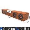 20W soundbar do telewizora bezprzewodowy głośnik bluetooth Smalody drewniane Stereo bass przenośny subwoofer komputer stancjonarny boombox Radio FM głośnik