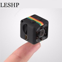 Leshp SQ11 HD 1080 p mini cámara de visión nocturna mini videocámara deporte al aire libre DV video recorder acción Cámara soporte tarjeta del TF