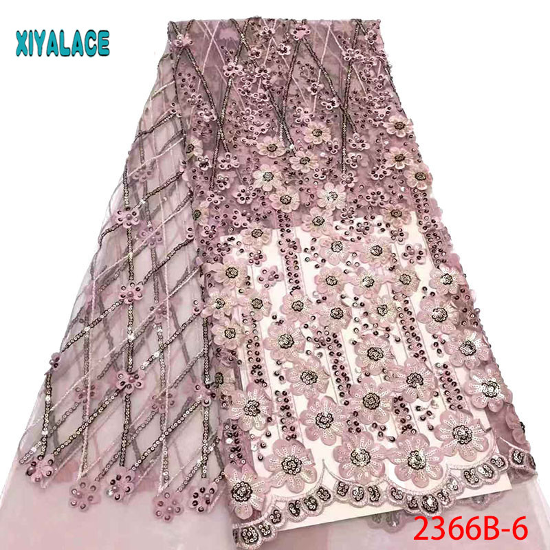 African Wedding Lace Fabric High Quality 3d French Lace Fabric With Beads Embroidery African Lace Fabric