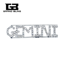 Constellation Theme Crystal Brooch Gift GEMINI Lapel Pin