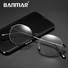BANMAR Round Anti Blue Rays Glasses Light Blocking Filter Computer Gaming Eyeglasses Frame Myopia Optical Eyewear A5025