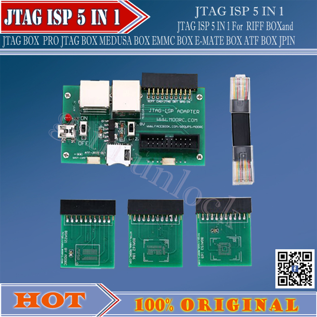 JTAG ISP 5 IN 1 For RIFF  JTAG PRO JTAG MEDUSA EMMC E-MATE BOX ATF BOX