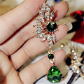2016 New Design Women Wing Shape Earrings Shine Dazzling Big Gem Full Rhinestone Crystal Stud Earrings Fashion Jewelry JQ510