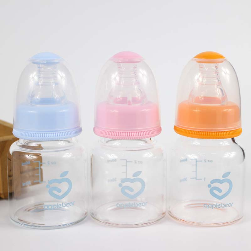 1pcs 60ml 2oz Standard Infant Glass Baby Feeding Bottles Biberon
