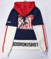 Anime Boku no Hero Academia Todoroki Shoto hoodie Cosplay Costume My Hero Academia Bakugou Katsuki winter hooded