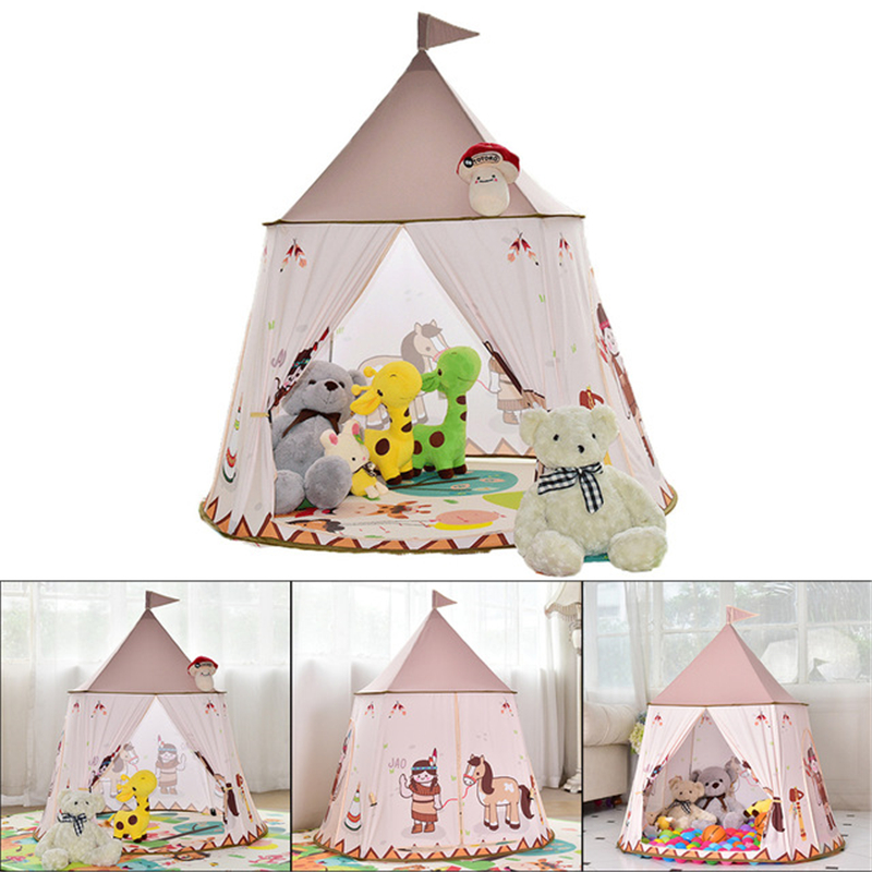 Princess Teepee Playhouse Children's Room Toy Baby Gift Tipi Play Tent Ball Pool House Room Kids Baby Tenda Infantil Tents safety kids teepee children tipi toy baby pink play tent ball pit playpens house portable tente enfant lodge gift game room