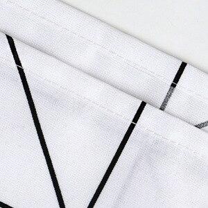Image 5 - Mode Weiß Grid Print Jalousien Vorhänge Für Bad Vielzahl Größe Polyester Bad Vorhang Wasserdicht Dusche Vorhänge Wohnkultur