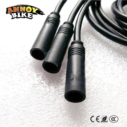 Wodoodporny kabel przedłużacz pojazd elektryczny sterownik silnika 9 rdzeń 8 core 1.2/1.5 kwadratowych 250W350W silnik piasty narzędzie|Akcesoria do rowerów elektrycznych|   -