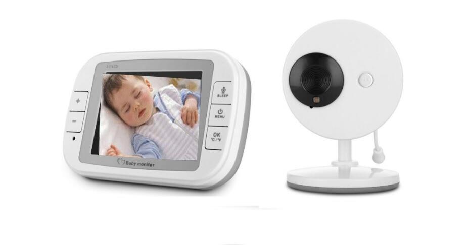 New Arrival Wireless 2.4Ghz 3.5inch LCD Audio Video Wireless Baby Monitor Nanny Baby Camera Display babysitter fpv 1 2ghz 100mw 4ch wireless audio
