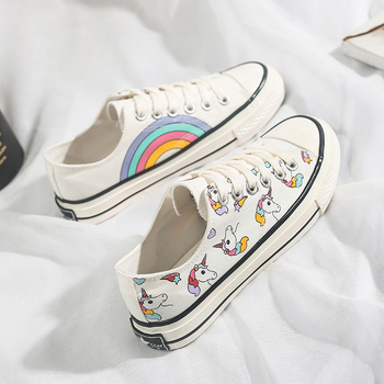 Low Top Unicorn Themed Sneakers