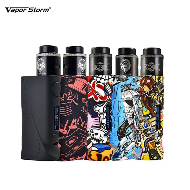 US $15 19 5% OFF Vapor Storm ECO Pro Box Mod With Lion RDA DIY Coil Starter  Kit ABS Vape 5 80W Electronic Cigarette Variable Power TC 510 Thread-in