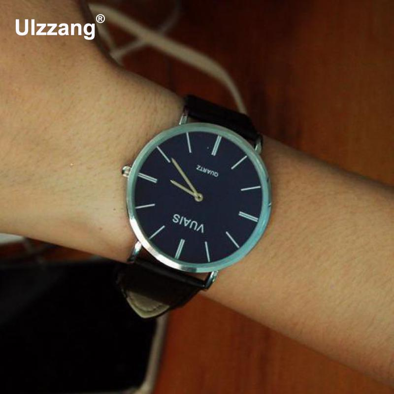 Watches Men Luxury Top Brand Fashion Blue Glass Unisex Quartz Watch Women Business Casual Leather Wrist Watch Relogio Masculino fashion relogio masculino luxury tv dial quartz wrist watch pu leather dress women men unisex clock gifts sports wrist watches