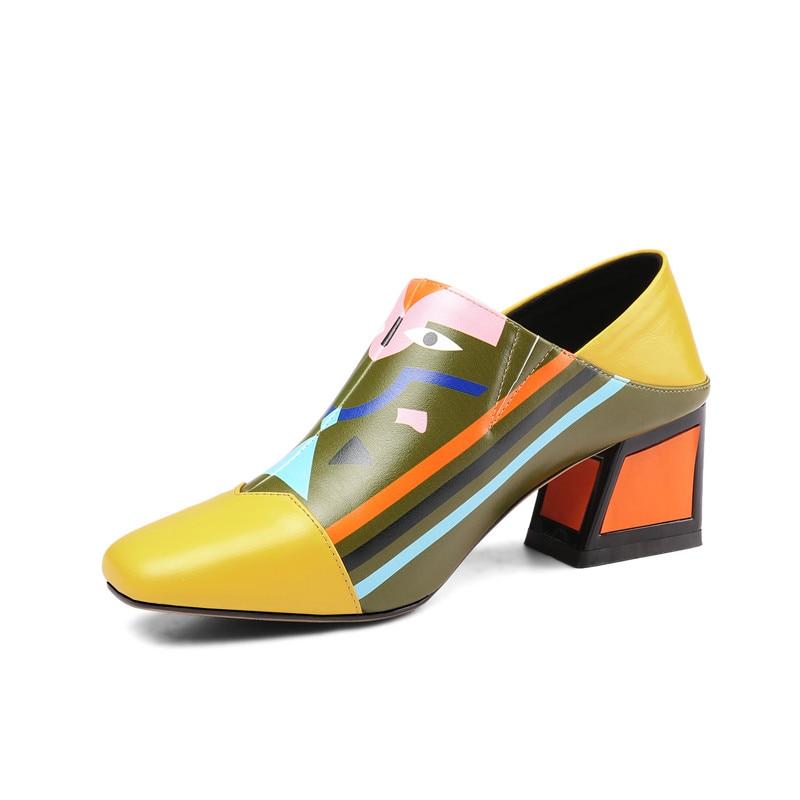 MORAZORA 2019 أحدث جلد طبيعي النساء مضخات مختلط الألوان الفريدة عالية الكعب أحذية فساتين راقية أحذية السيدات مكتب الأحذية-في أحذية نسائية من أحذية على  مجموعة 2
