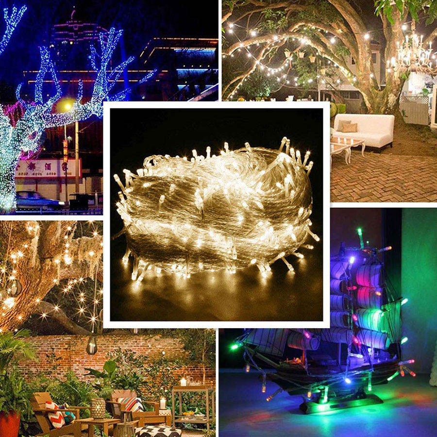 LED Christmas String Light DC12V 100M 50M 30M 20M 10M Remote Control Fairy Light Outdoor Indoor Party Wedding Garland Decoration