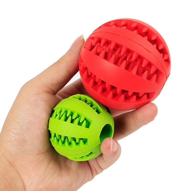 Мягкие игрушки для собак, Забавный интерактивный эластичный шарик, игрушка для жевания собак, мяч для чистки зубов, очень жесткий резиновый мяч для собак-2
