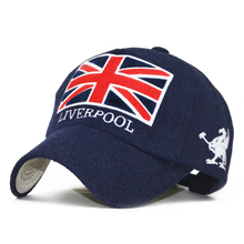 New Fashion Liverpool Baseball Cap Warm Snapback Hat Unisex Gorras Snap Backs with England Flag for Autumn Winter Casquette Caps