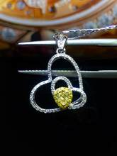 Fine Jewelry Pure 18 K Gold Jewelry AU750 G18K Natural 100% nature Yellow Diamonds 0.20ct Pendant Gemstone Necklaces for Women(China)