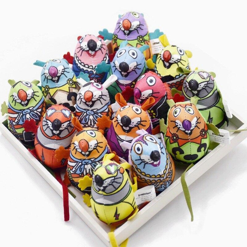 15 costumes emballage Production sonore Catmint coloré Rat chat jouet en peluche Rat Pet Article chat jouets interactifs en peluche produits pour animaux de compagnie
