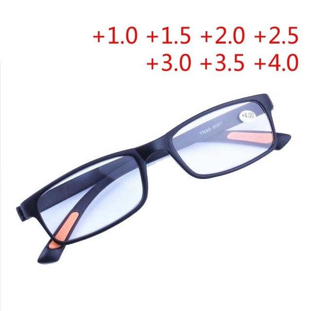 a3a5dfa7c Homens e Mulheres TR90 Hipermetropia Óculos Super-macio Ultra-leve armação  de Plástico Óculos