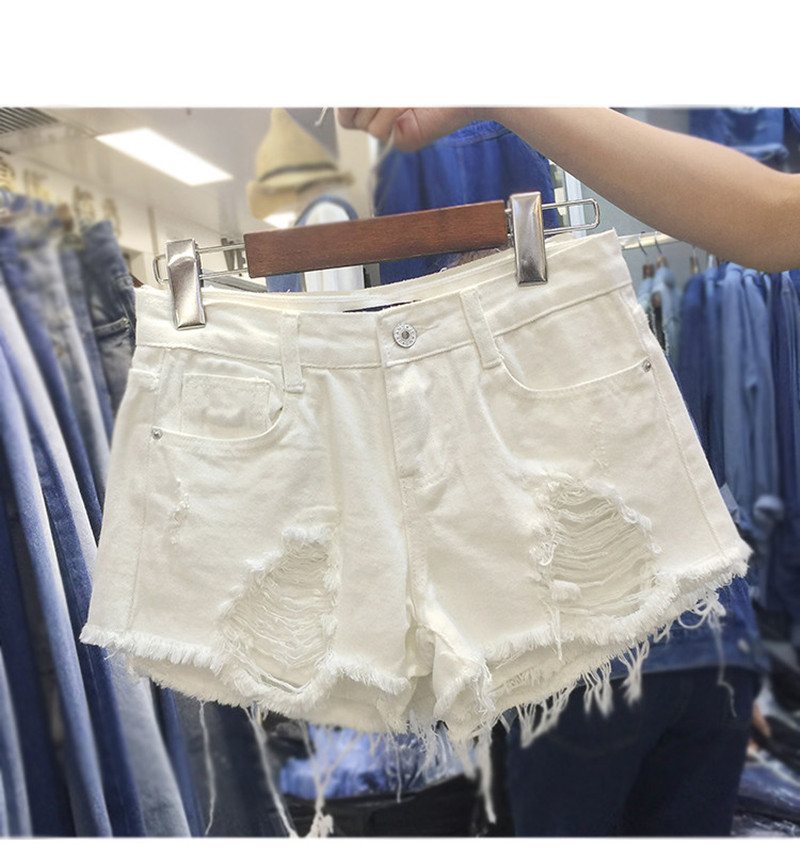 Popular White Short Jeans-Buy Cheap White Short Jeans lots from ...