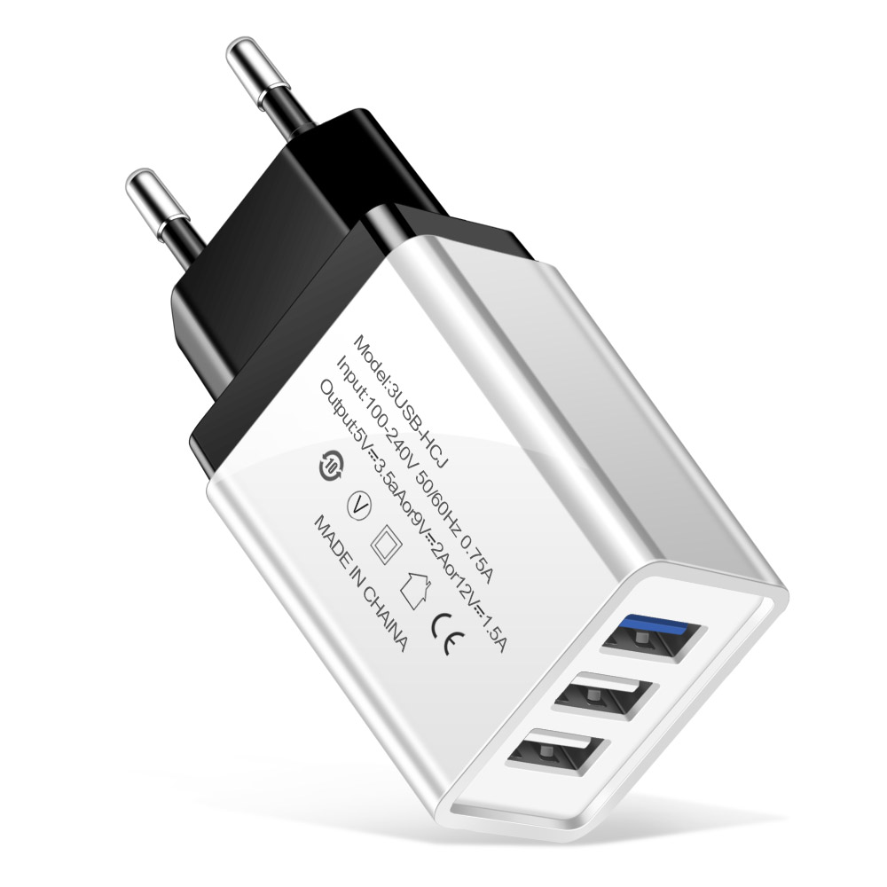 eu plug charger black