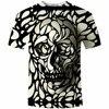 New Design Skull Print Mens Tshirt Fashoin 3D T Shirt Summer Short Sleeve Casual Breathable Tops
