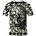 New Design Cópia Do Crânio tshirt Dos Homens de Moda 3D T-Shirt do Verão Curto manga Casuais Respirável Tops T Plus Size 5XL camiseta Homme