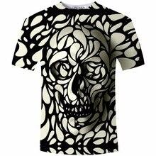 New Design Skull Print Mens tshirt Fashion 3D T-Shirt Summer Short Sleeve Casual Breathable Tops Tee Plus Size 5XL T shirt Homme