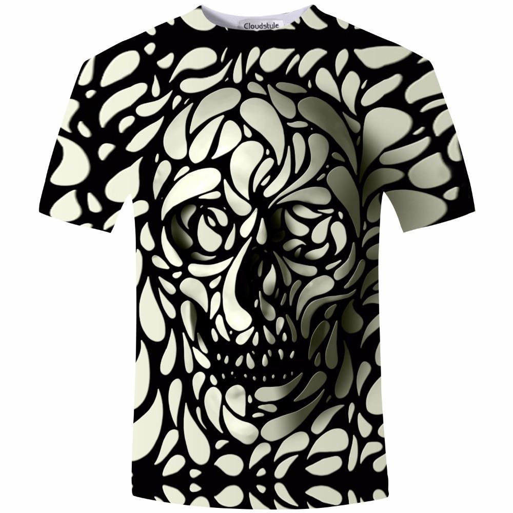 Design t shirt buy - New Design Skull Print Mens Tshirt Fashion 3d T Shirt Summer Short Sleeve Casual Breathable