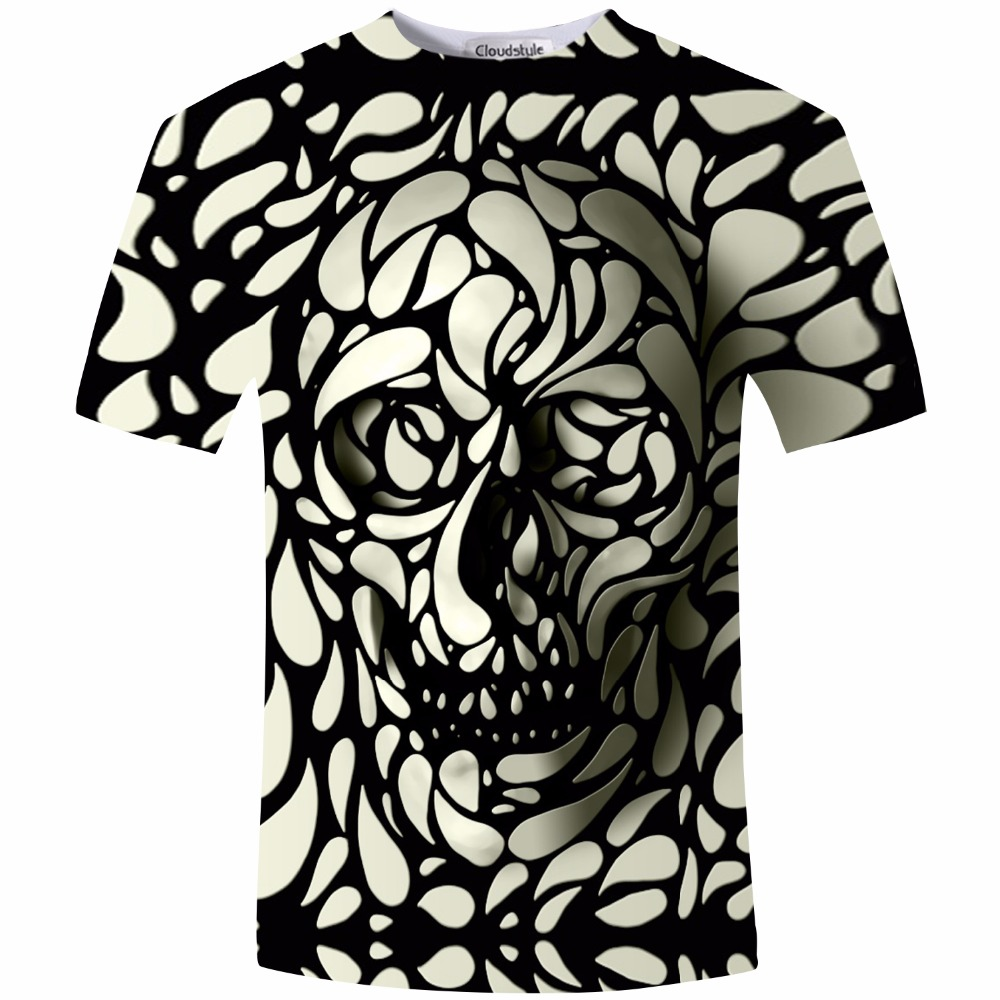 Shirt design buy - New Design Skull Print Mens Tshirt Fashion 3d T Shirt Summer Short Sleeve Casual Breathable