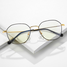 c8a077f103 TR90 Anti-Blue Ray Eyeglasses Thin Gold Metal Prescription Eyewear Frame  Black Lightweight Computer Glasses
