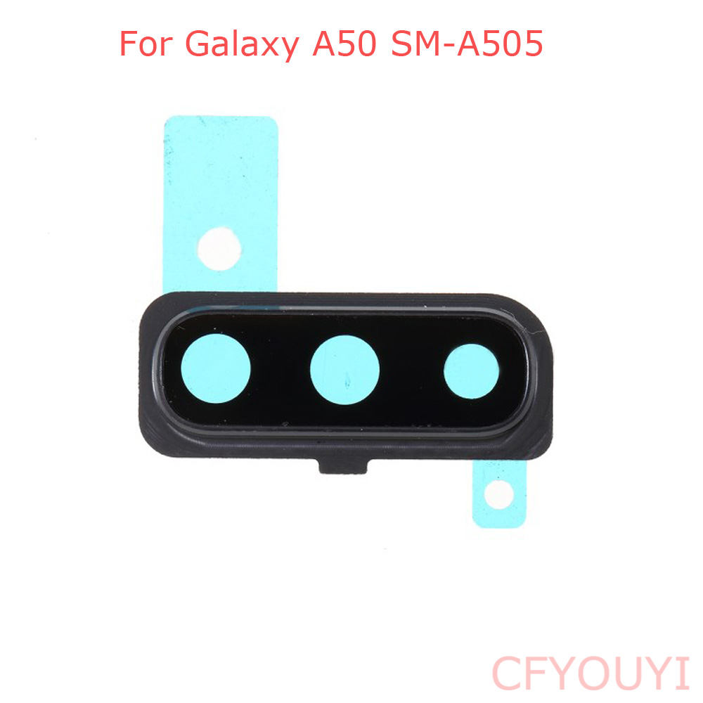 For Samsung Galaxy A50 A505 Back Camera Lens Ring Cover With Glass Lens Replacement Part