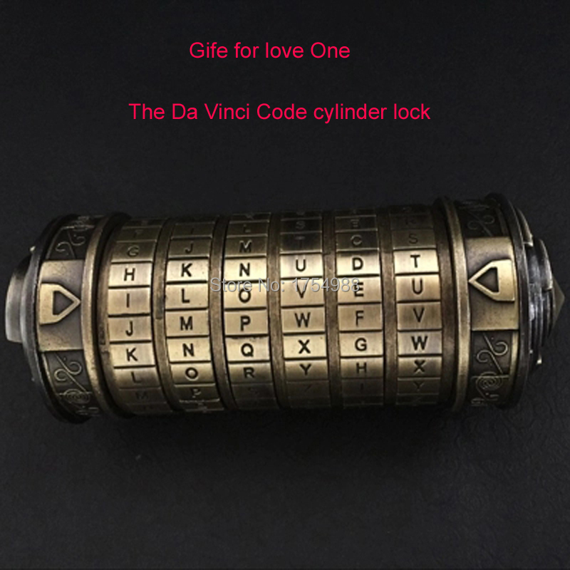 Wedding Present Da Vinci Cylinder Code Lock Rings Lover