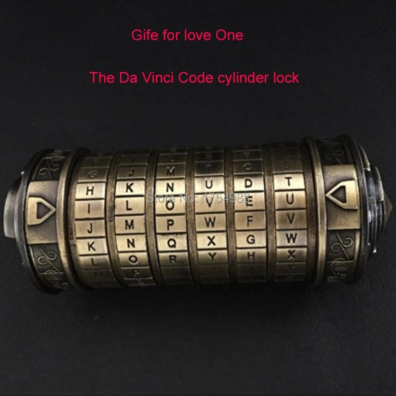 Wedding Present Da Vinci Cylinder Code Lock Rings Lover