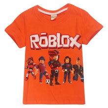 cae9ae51428c1 Été nouveau dessin animé Minecraft enfants de coton à manches courtes T- shirt JOJO siwa garçons filles fortnite ROBLOX jeu T-shi.